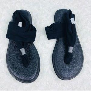 Sanuk yoga sling 2 knit fabric flip flop sandals